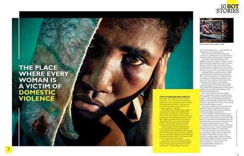 Crying Meri in Grazia magazine, UK.